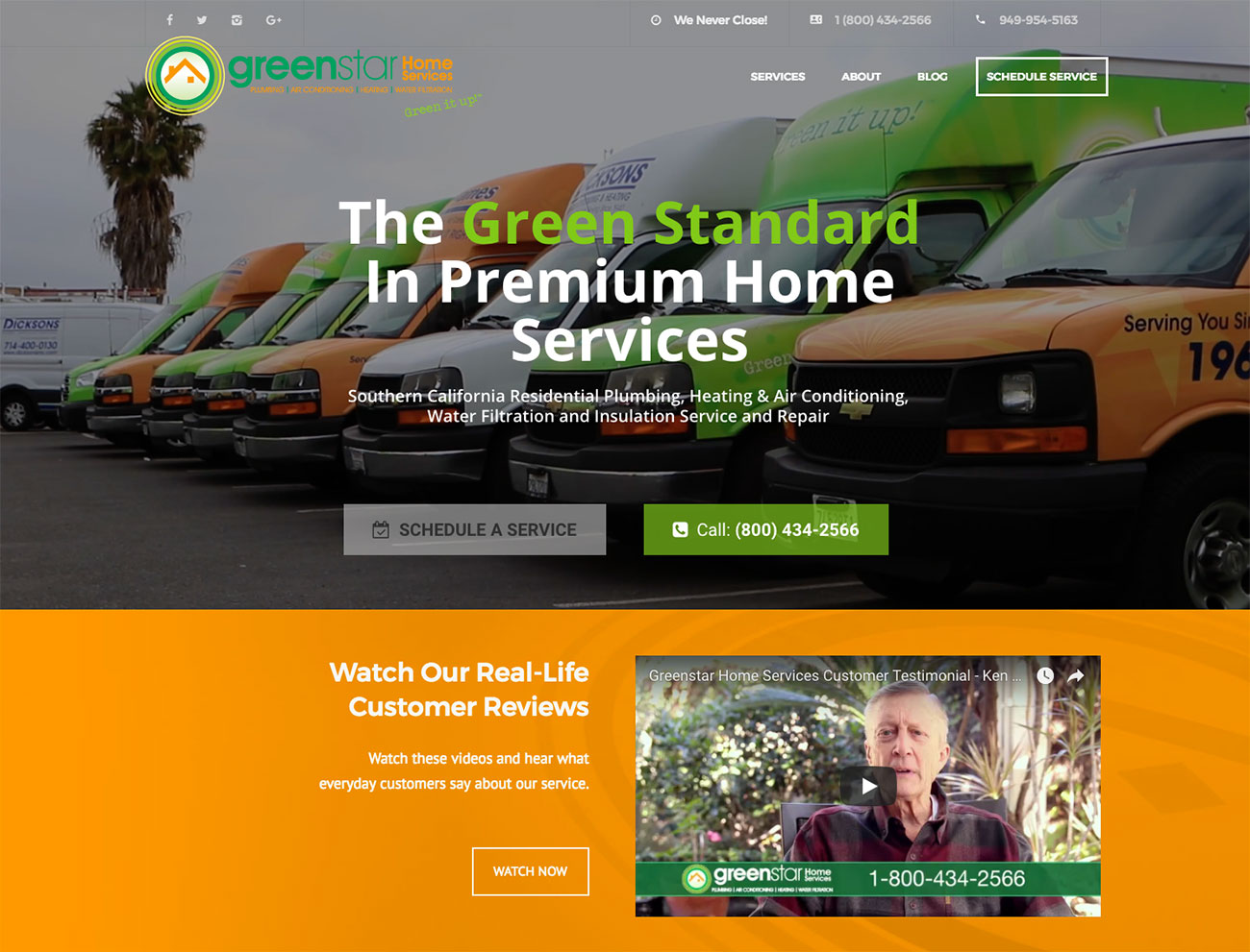 Greenstar Website Screenshot